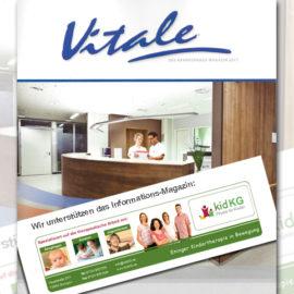 Wir unterstützen das Informations-Magazin Vitale