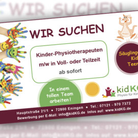 Kinder-Physiotherapeut m/w gesucht
